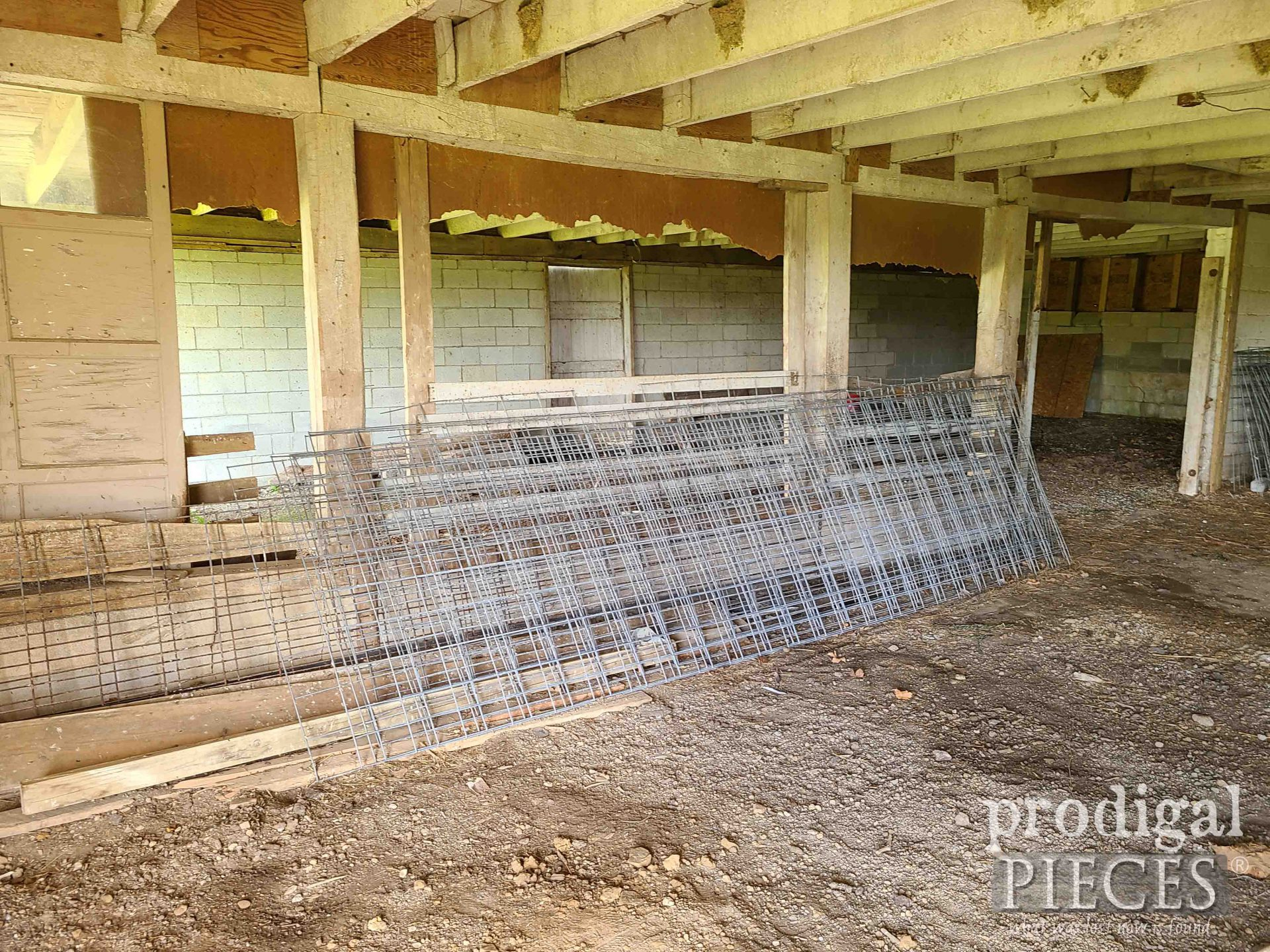 Cattle Panels in Old Barn | prodigalpieces.com