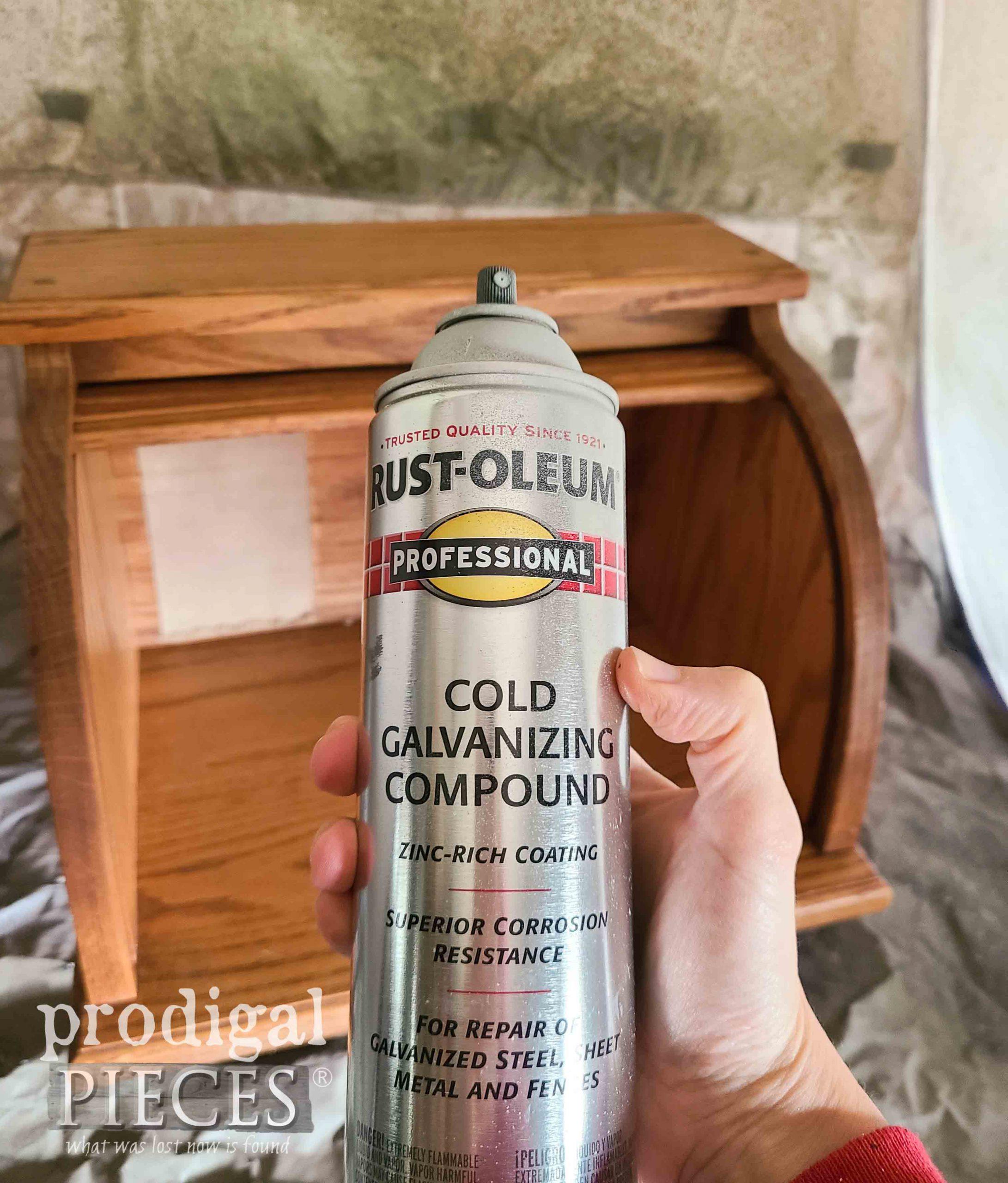 Cold Galvanizing Compound Spray Paint for Faux Zinc Finish by Prodigal Pieces | prodigalpieces.com