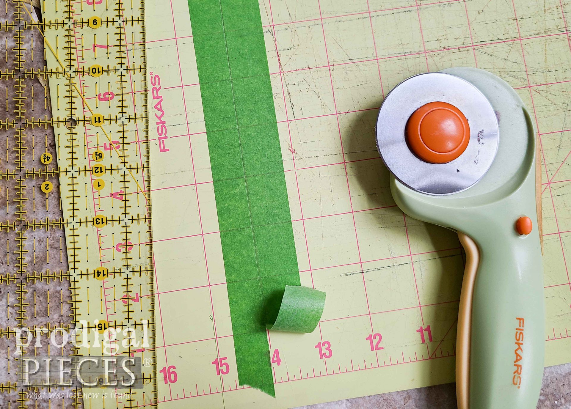 Cut Painter's Tape with Rotary Cutter | Prodigal Pieces | prodigalpieces.com #prodigalpieces