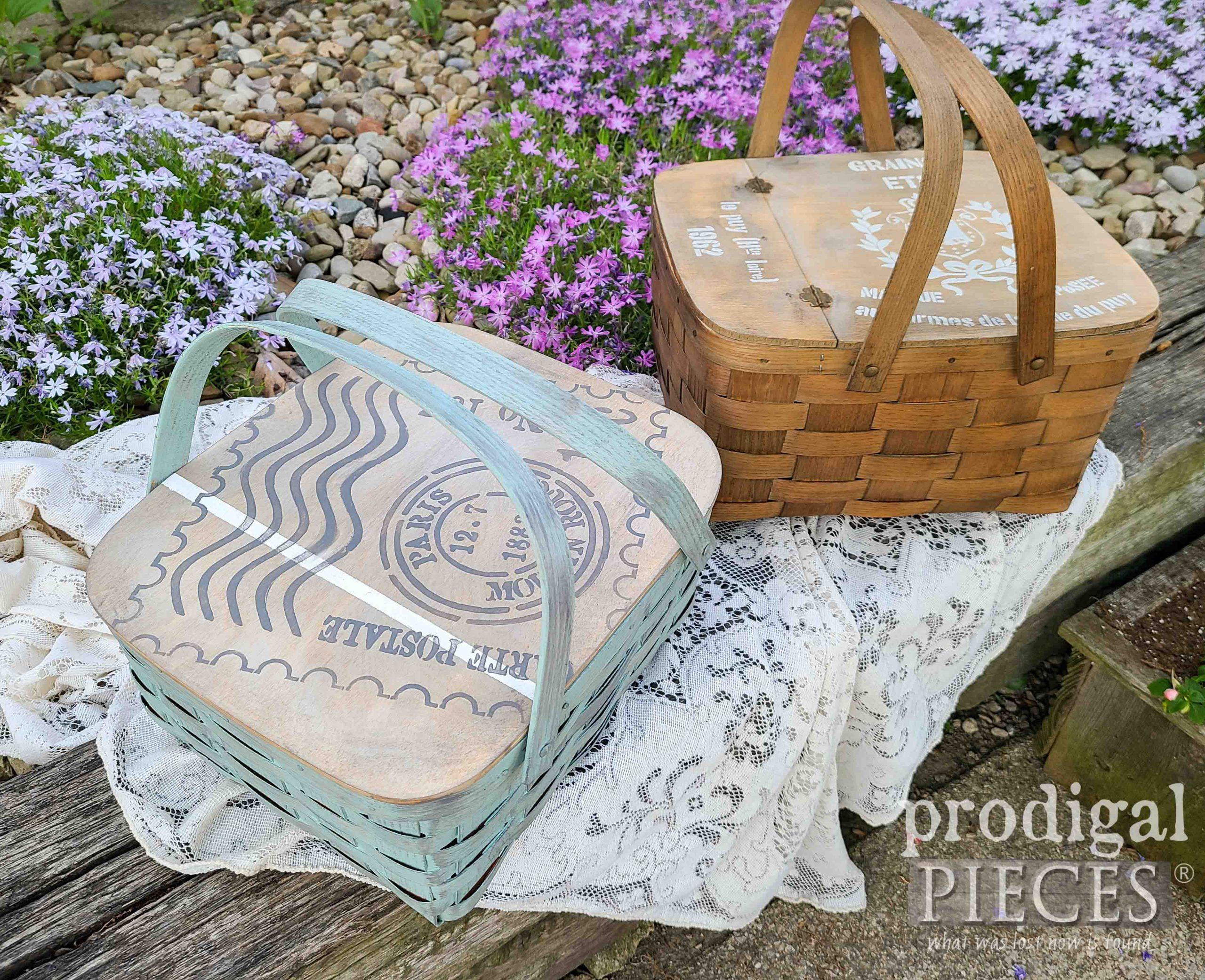 DIY Repurposed Vintage Picnic Baskets by Larissa of Prodigal Pieces | prodigalpieces.com #prodigalpieces #farmhouse #vintage #home #summer