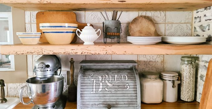 Bread Box Makeover with Typography
