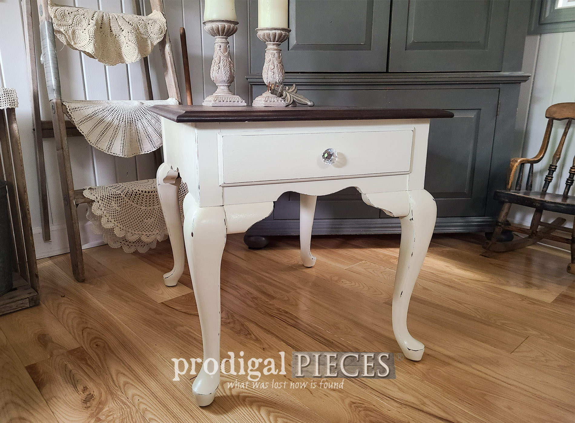 Featured Vintage Queen Anne Table Refinished by Prodigal Pieces | prodigalpieces.com #prodigalpieces #furniture #diy #home #homedecor