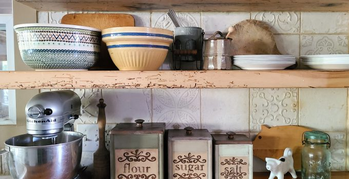 Thrifted Kitchen Canisters Get Vintage Makeover