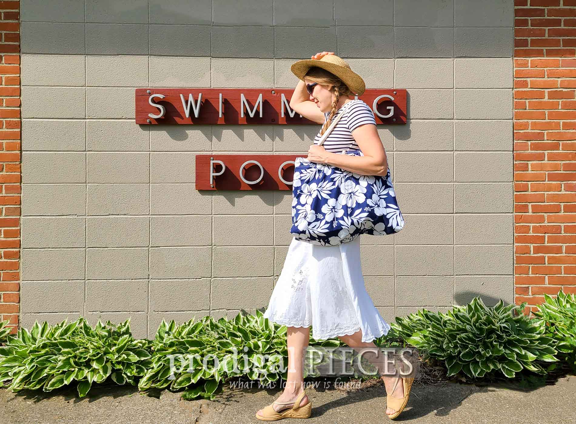 Featured Upcycled Swimsuit into Beach Bag for Refashion Fun by Larissa of Prodigal Pieces | prodigalpieces.com #prodigalpieces #refashion #upcycled #summer #swimming #diy