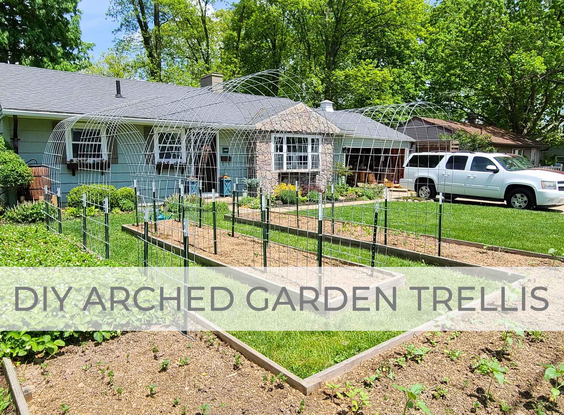 DIY Arched Garden Trellis by Prodigal Pieces | prodigalpieces.com