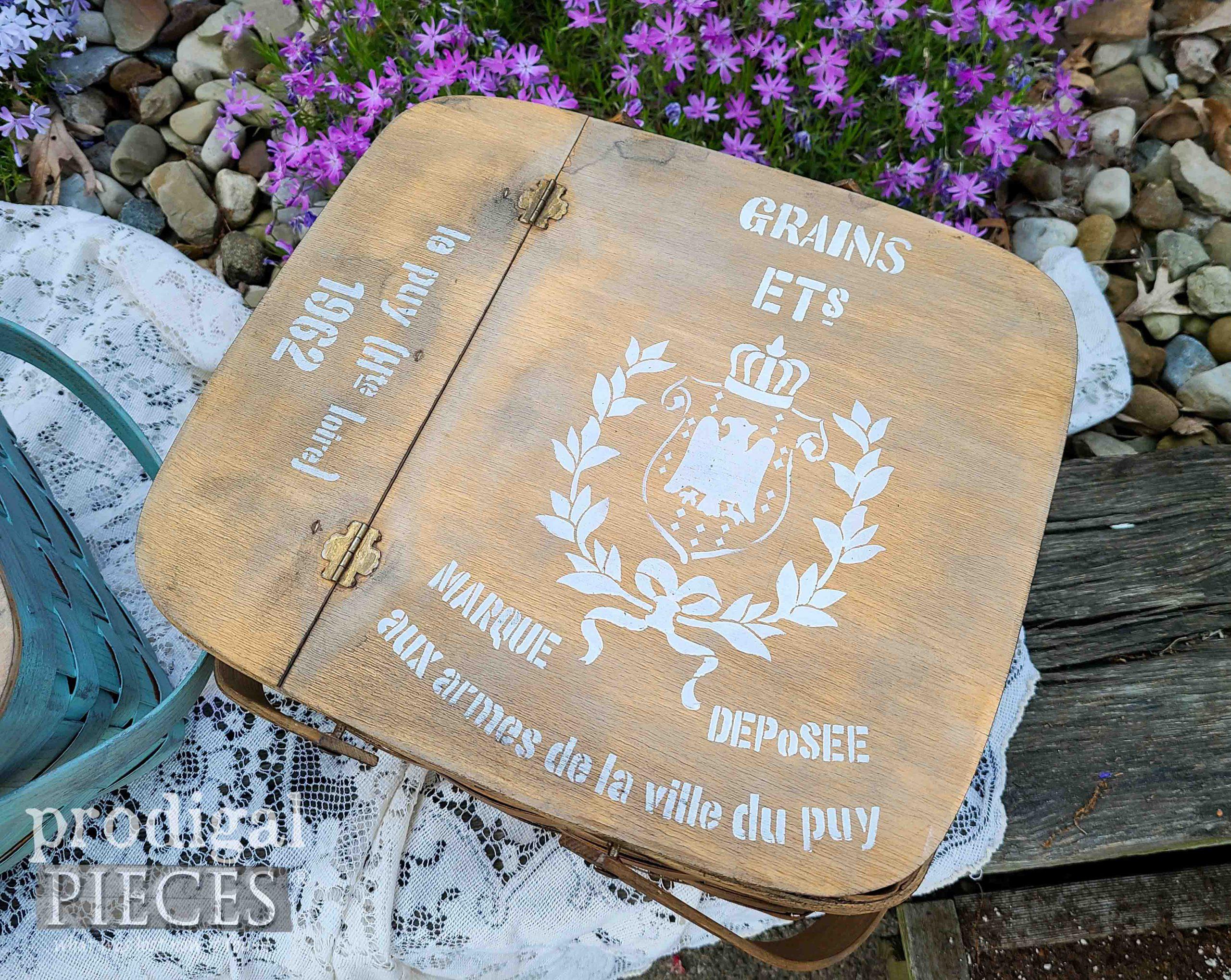 Grain Sack Basket Top by Prodigal Pieces | prodigalpieces.com #prodigalpieces #farmhouse #diy #home