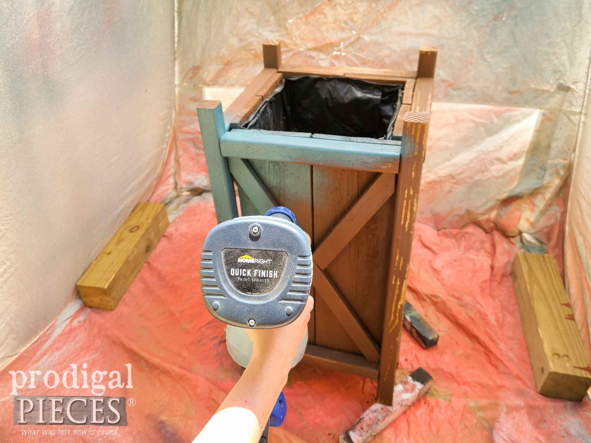 HomeRight Quick Finish Sprayer for Update Planters DIY by Larissa of Prodigal Pieces | prodigalpieces.com #prodigalpieces