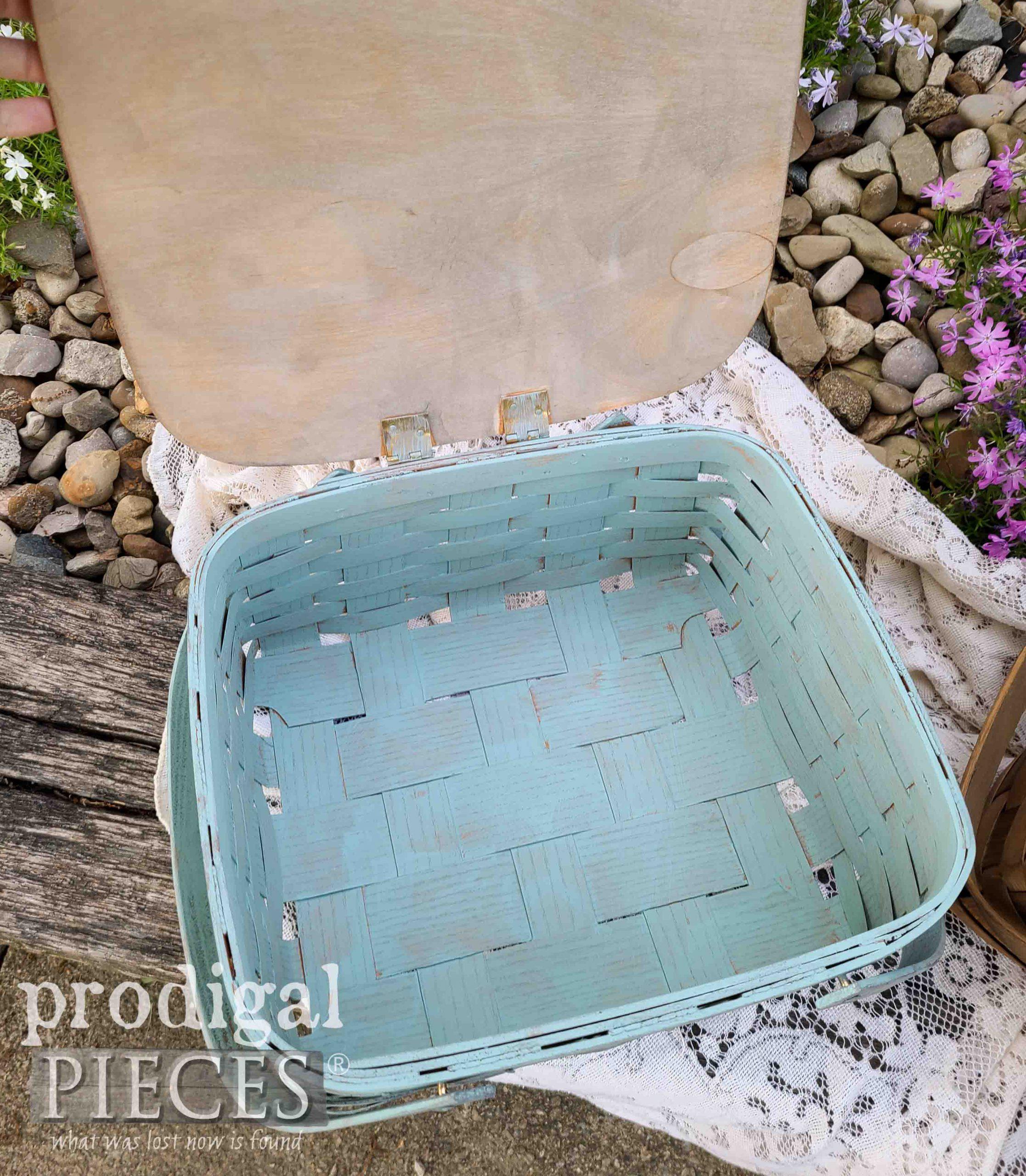 Inside Blue Picnic Basket by Prodigal Pieces | prodigalpieces.com #prodigalpieces #home