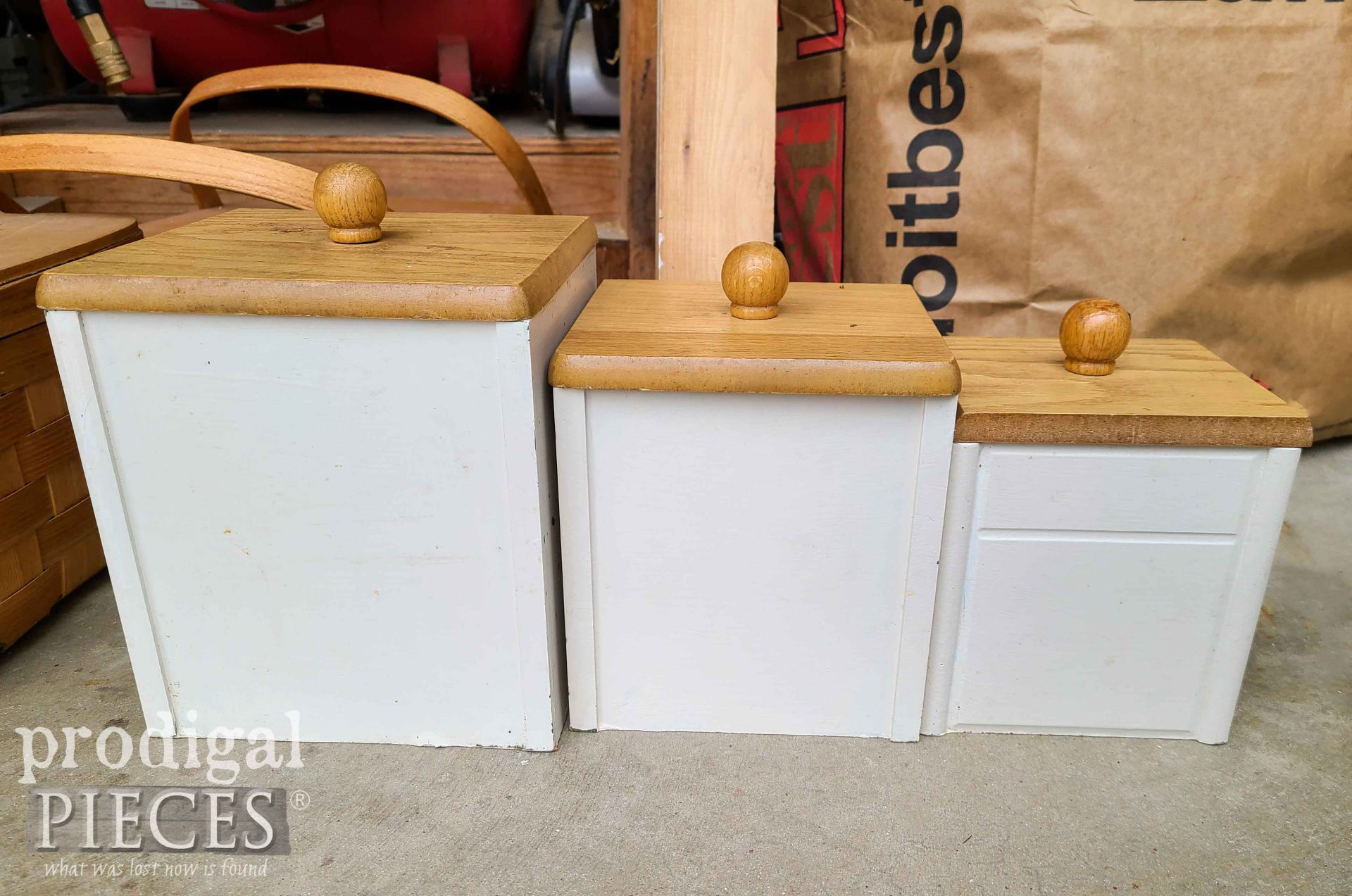 Kitchen Canisters Before Mini Makeover | prodigalpieces.com