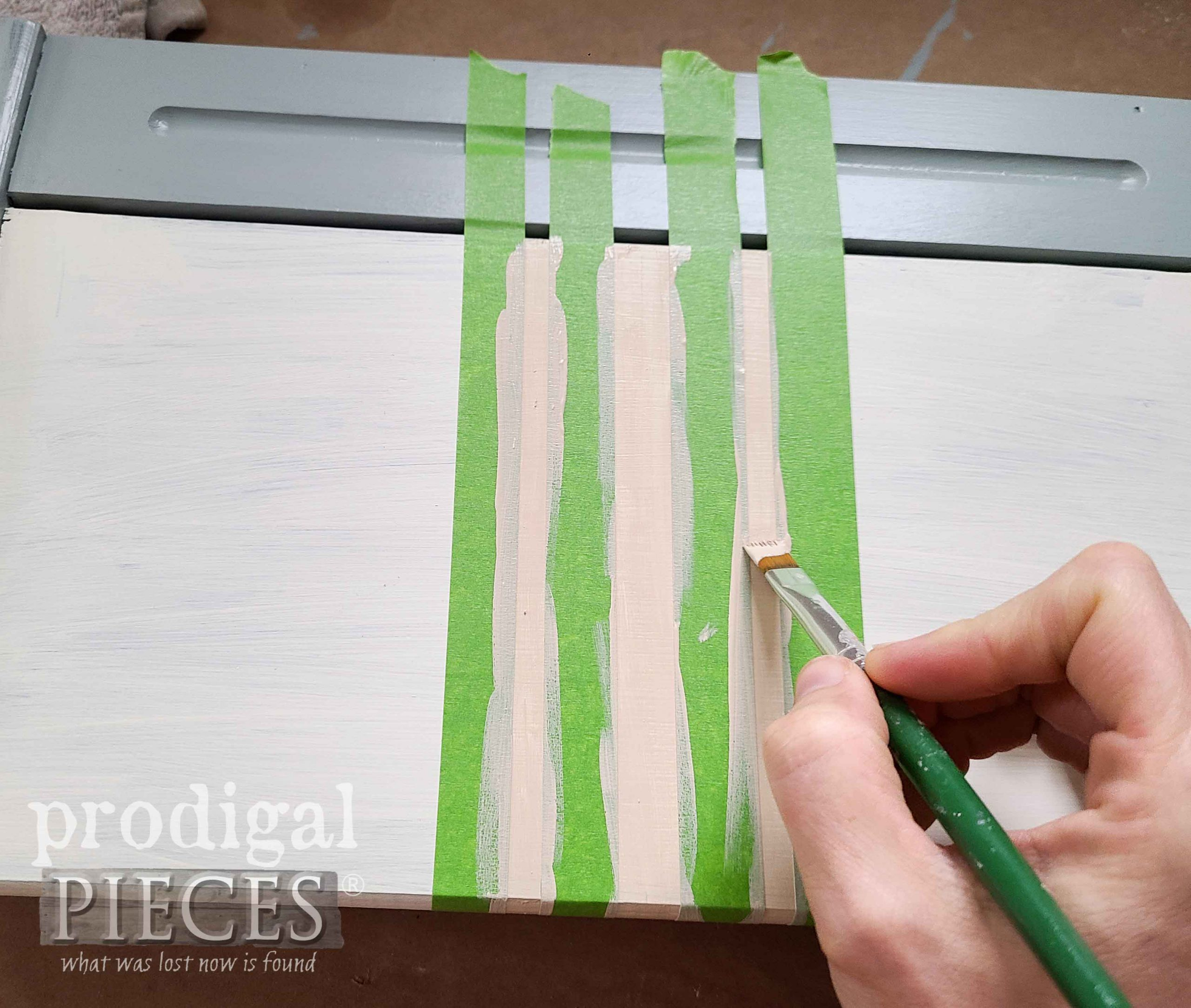 Painter's Tape for Grain Sack Stripes by Prodigal Pieces | prodigalpieces.com #prodigalpieces
