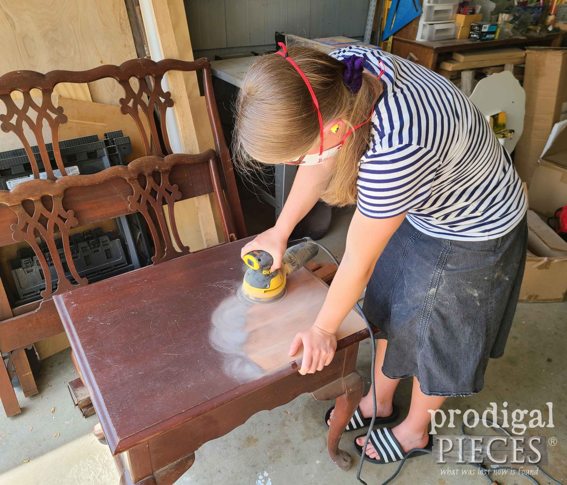 Sanding Broyhill Side Table | prodigalpieces.com