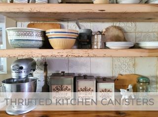 Thrifted Kitchen Canisters Get Makeover by Prodigal Pieces   prodigalpieces.com