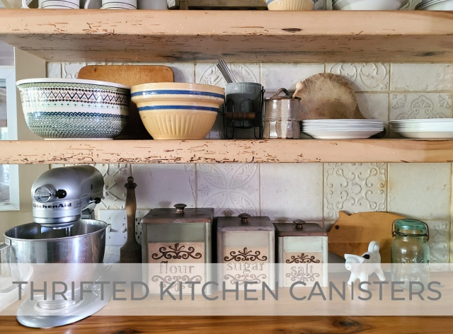 Thrifted Kitchen Canisters Get Makeover by Prodigal Pieces | prodigalpieces.com