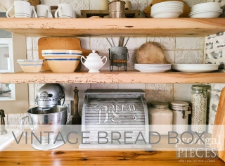 Vintage Bread Box Makeover with Faux Zinc Finish by Larissa of Prodigal Pieces   prodigalpieces.com #prodigalpieces