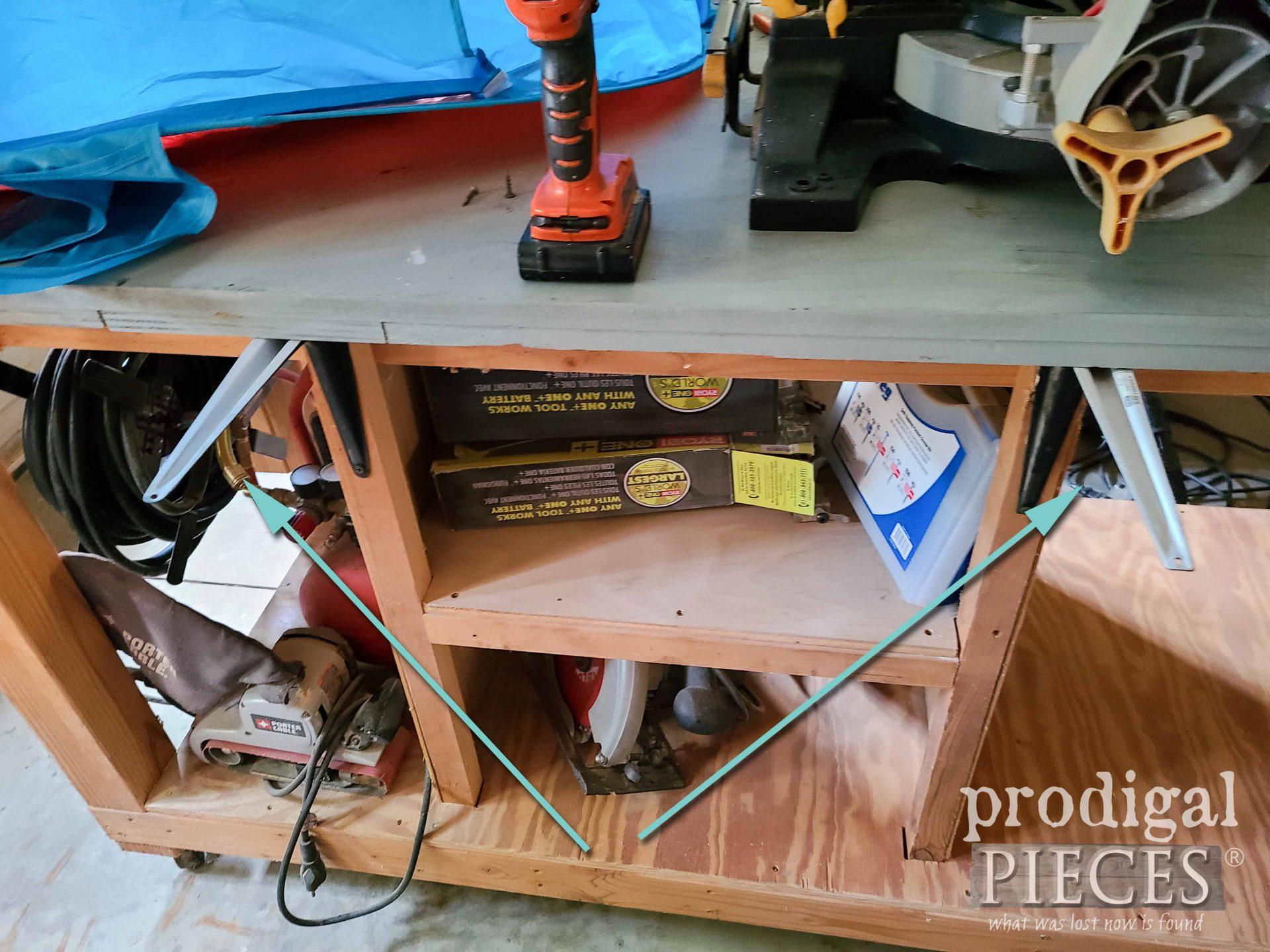 Brackets for DIY Miter Saw Hood   prodigalpieces.com
