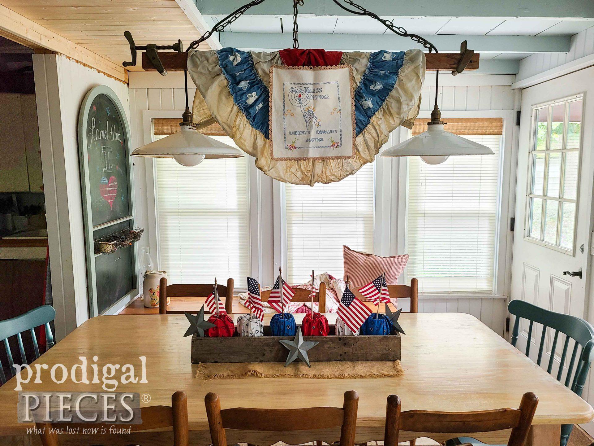 DIY Farmhouse 4th of July Patriotic Decor by Larissa of Prodigal Pieces | prodigalpieces.com #prodigalpieces #diy #farmhouse #home #4thofjuly