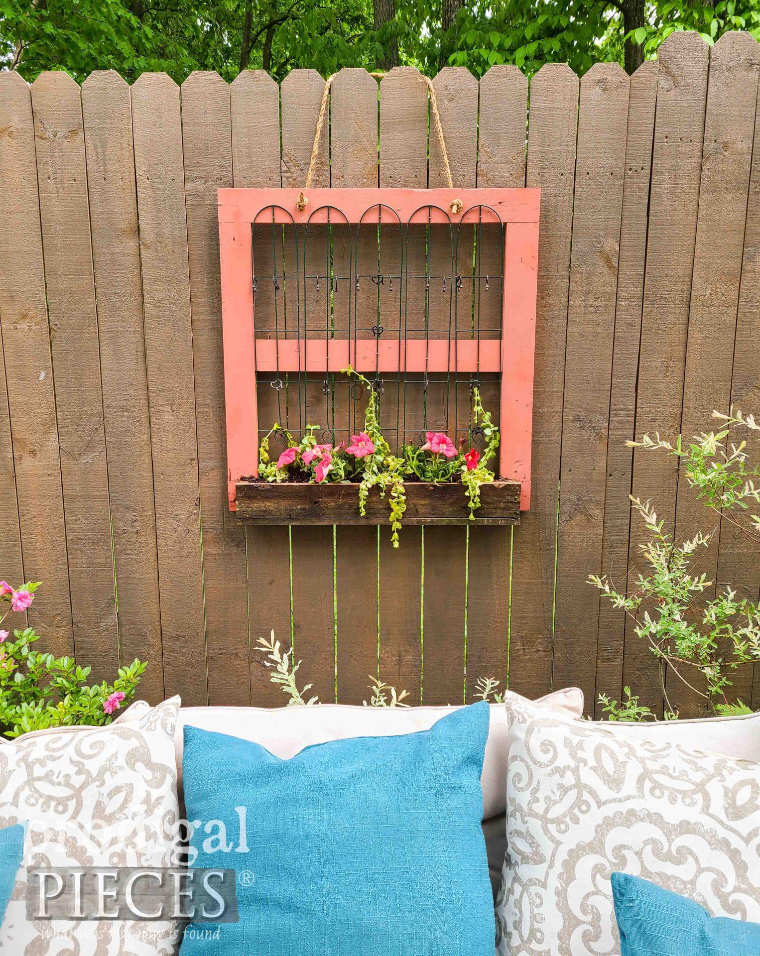 DIY Flower Hanging Fence Planter by Larissa of Prodigal Pieces | prodigalpieces.com #prodigalpieces #home #garden #diy #flowers