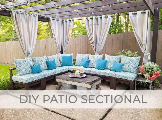 DIY Patio Secitonal Sofa Build Plans by Prodigal Pieces | prodigalpieces.com #prodigalpieces