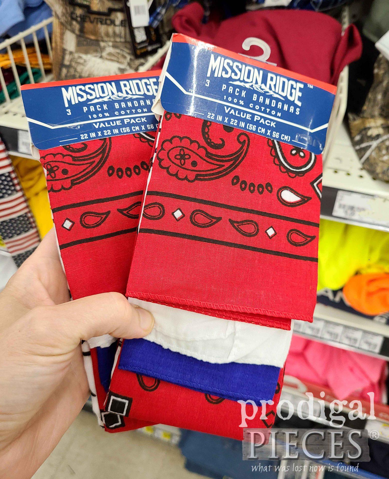 Dollar Store Bandanas for Farmhouse Patriotic Bandana Decor | prodigalpieces.com #prodigalpieces