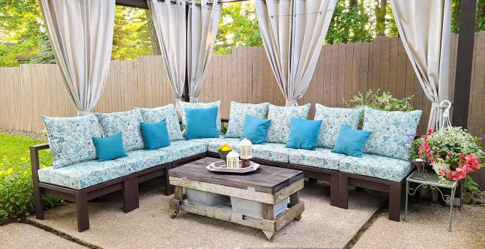 DIY Patio Sectional Sofa for Large or Small Gatherings