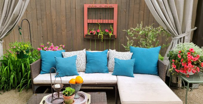 Hanging Fence Planter from Reclaimed Wood