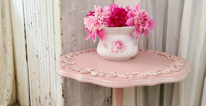 Tilt Top Table Makeover from the Curb