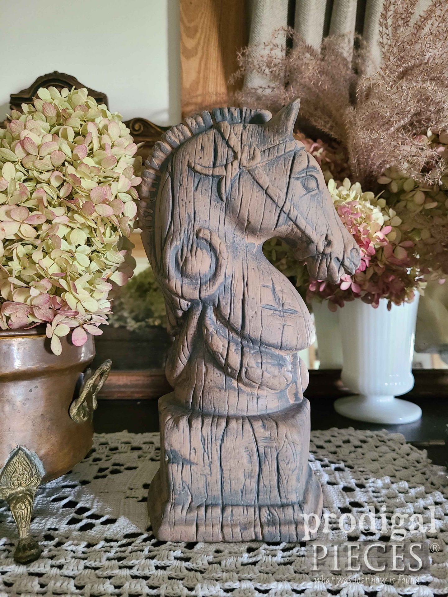 Vintage Horse Head Bookend Makeover by Prodigal Pieces | prodigalpieces.com #prodigalpieces