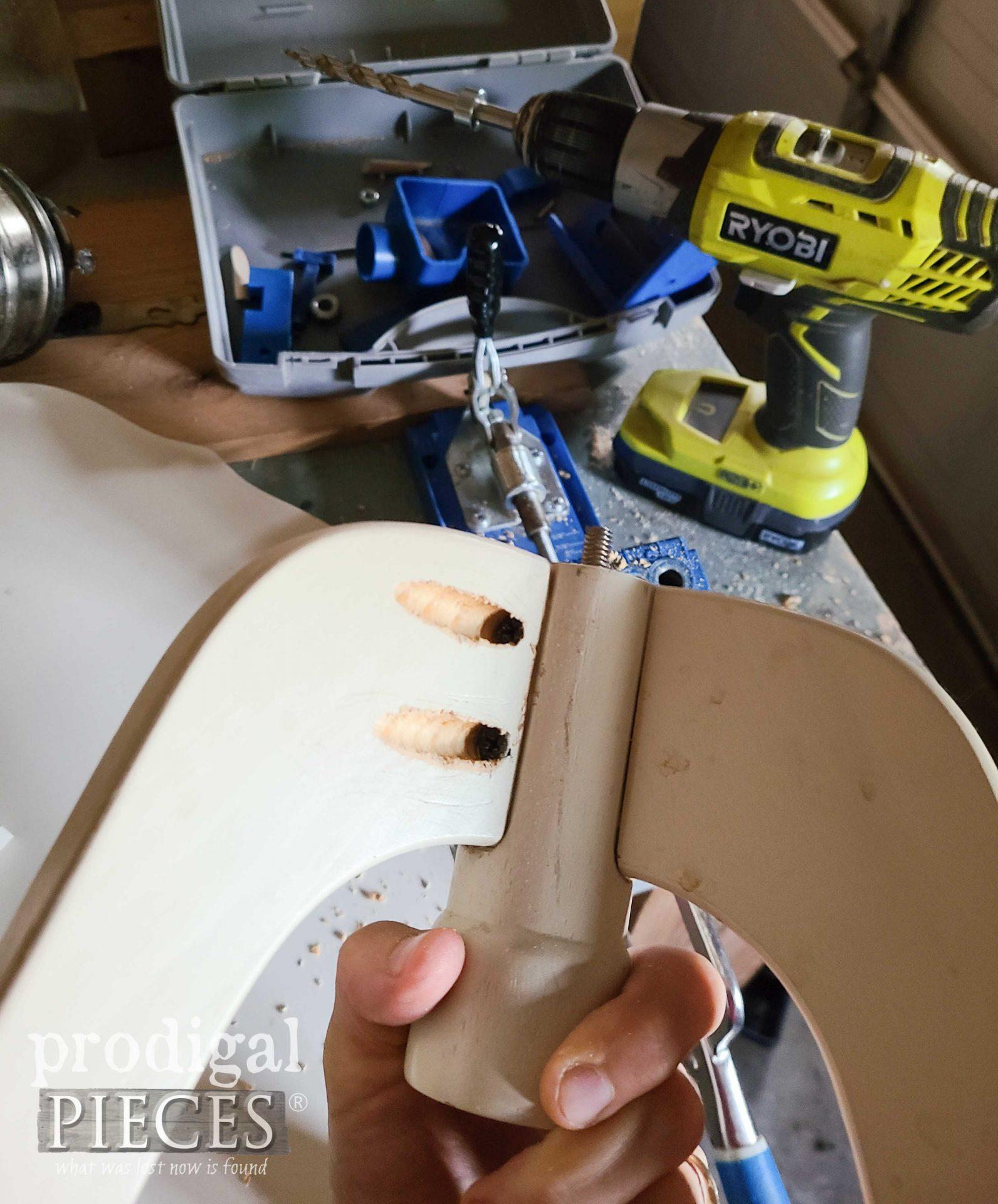 Tilt Top Table Leg Joint Repair | prodigalpieces.com