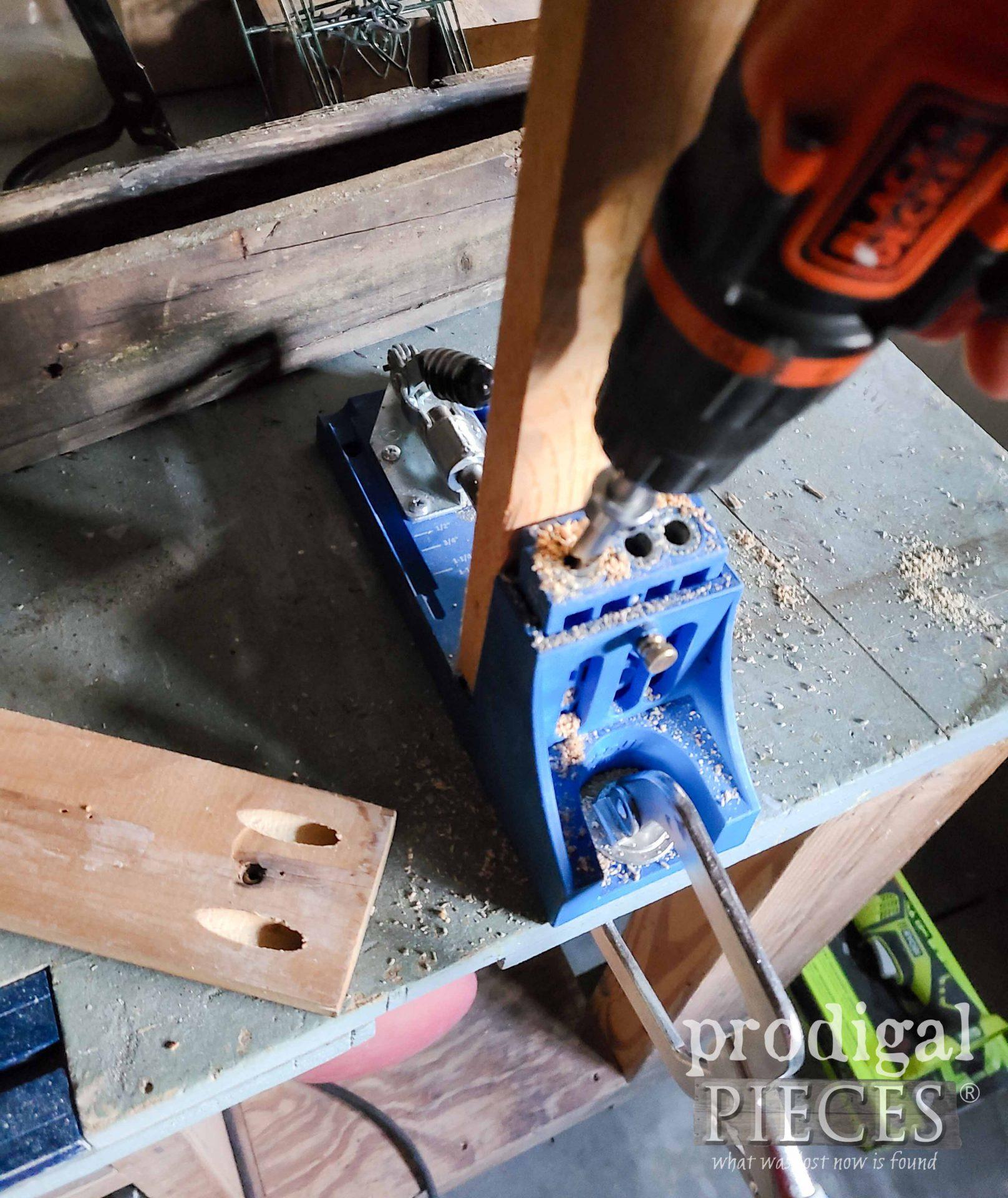 Making Pokcet Joints for Hanging Fence Planter | prodigalpieces.com
