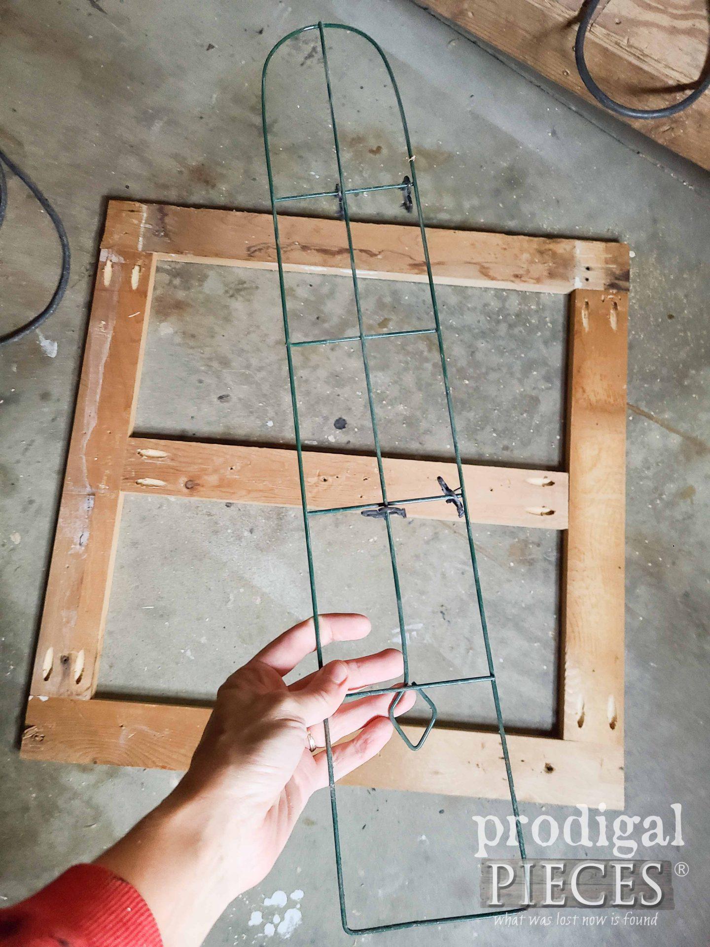 Reclaimed Wood Trellis Frame for Hanging Fence Planter | prodigalpieces.com