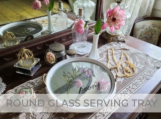 Round Glass Serving Tray Makeover by Larissa of Prodigal Pieces   prodigalpieces.com #prodigalpieces