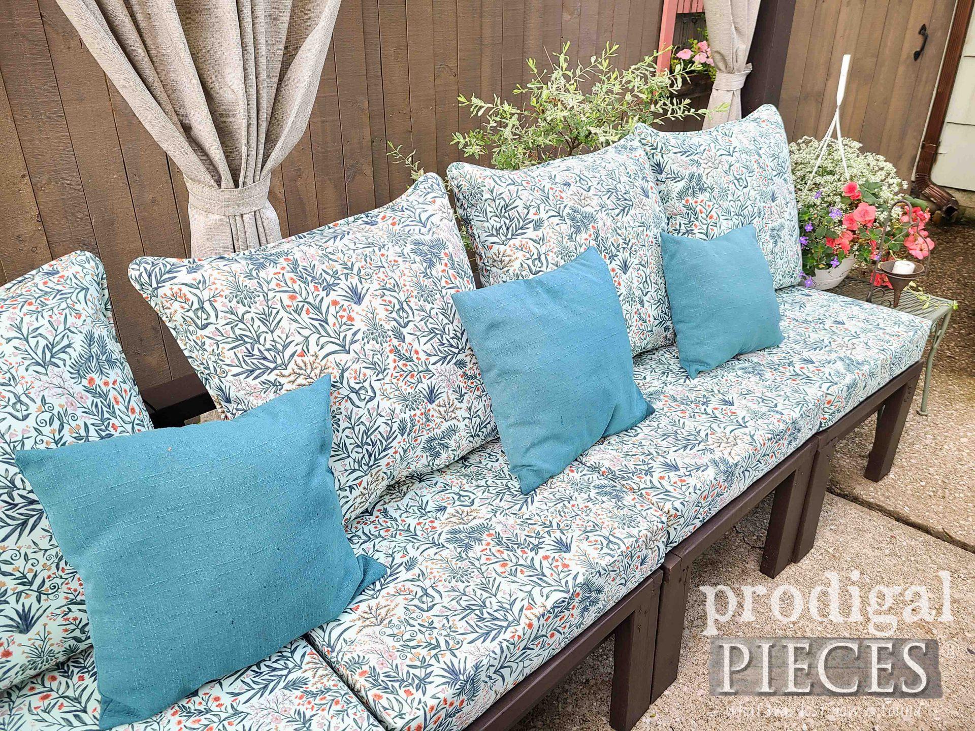 DIY Patio Sectional Sofa Cushions | prodigalpieces.com #prodigalpieces #patio #diy #outdoor