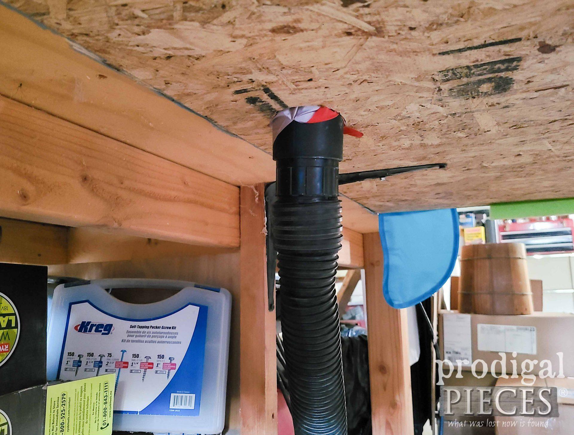 Shop Vacuum Attachment for DIY Miter Saw Dust Hood by Prodigal Pieces   prodigalpieces.com