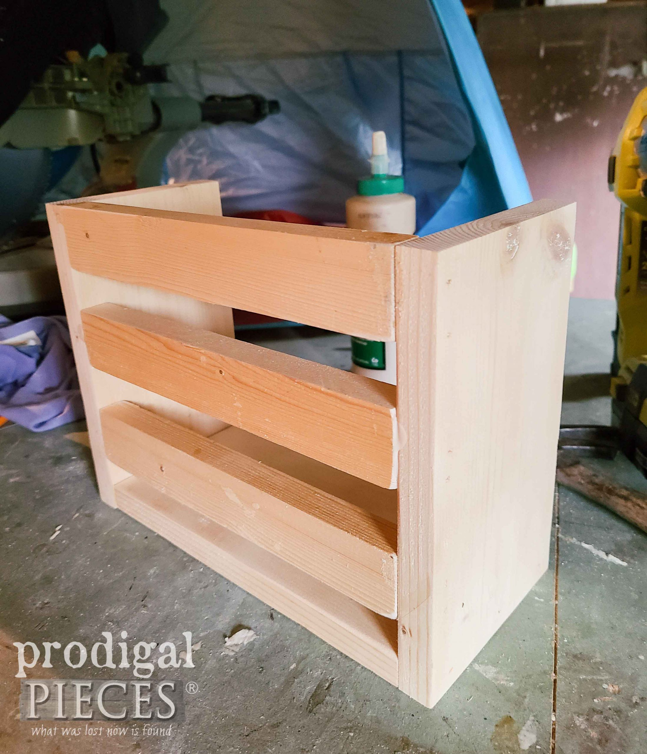DIY Pine Crate Assembled | prodigalpieces.com