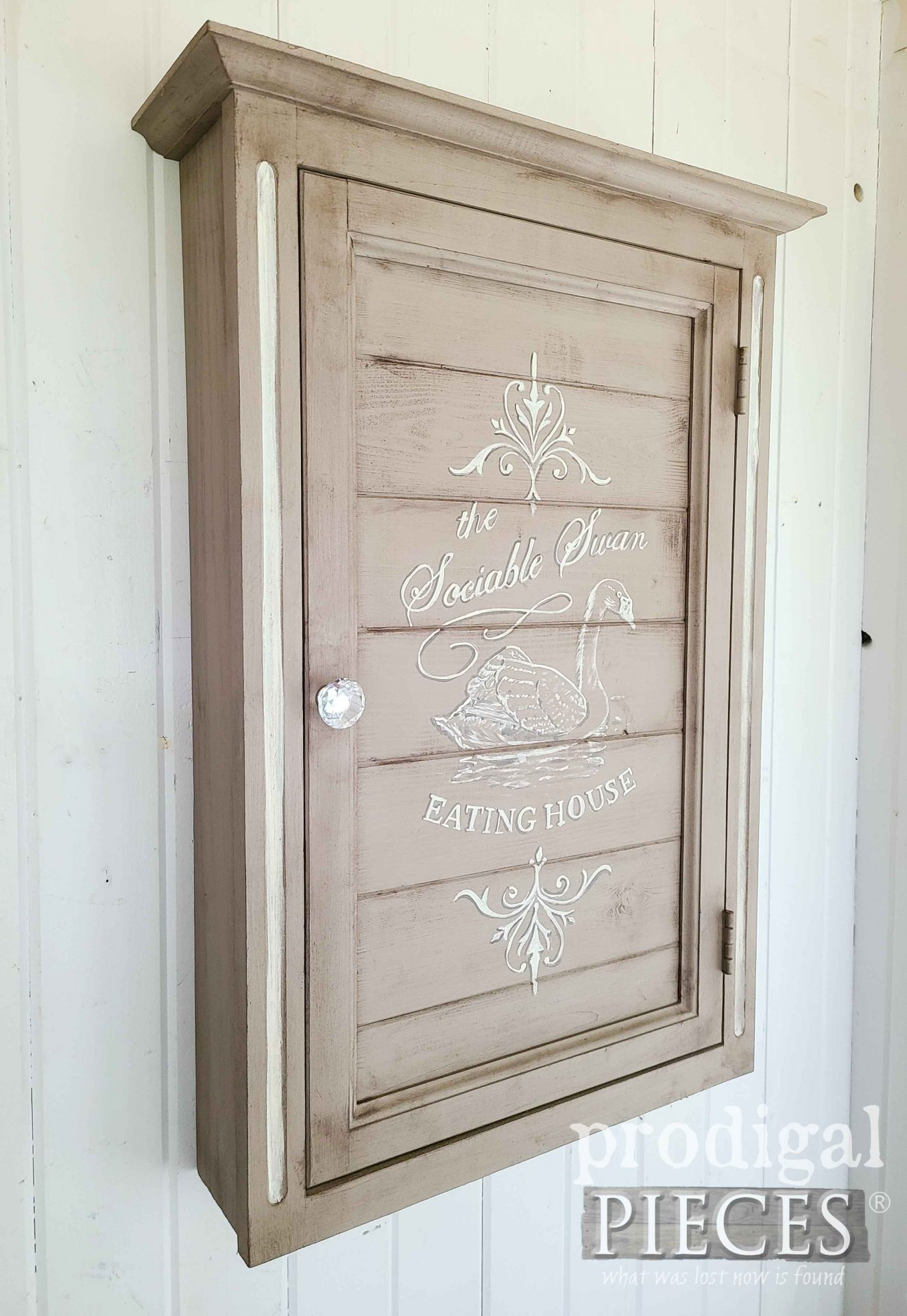 DIY Farmhouse Wall Cabinet for Added Storage by Larissa of Prodigal Pieces | prodigalpieces.com #prodigalpieces #diy #farmhouse #home