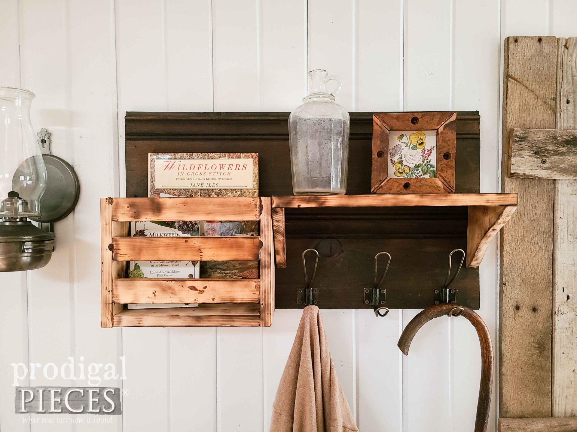DIY Reclaimed Wood Shelf with Torched Wood Tutorial by Larissa of Prodigal Pieces | prodigalpieces.com #prodigalpieces #farmhouse #diy #woodworking #home