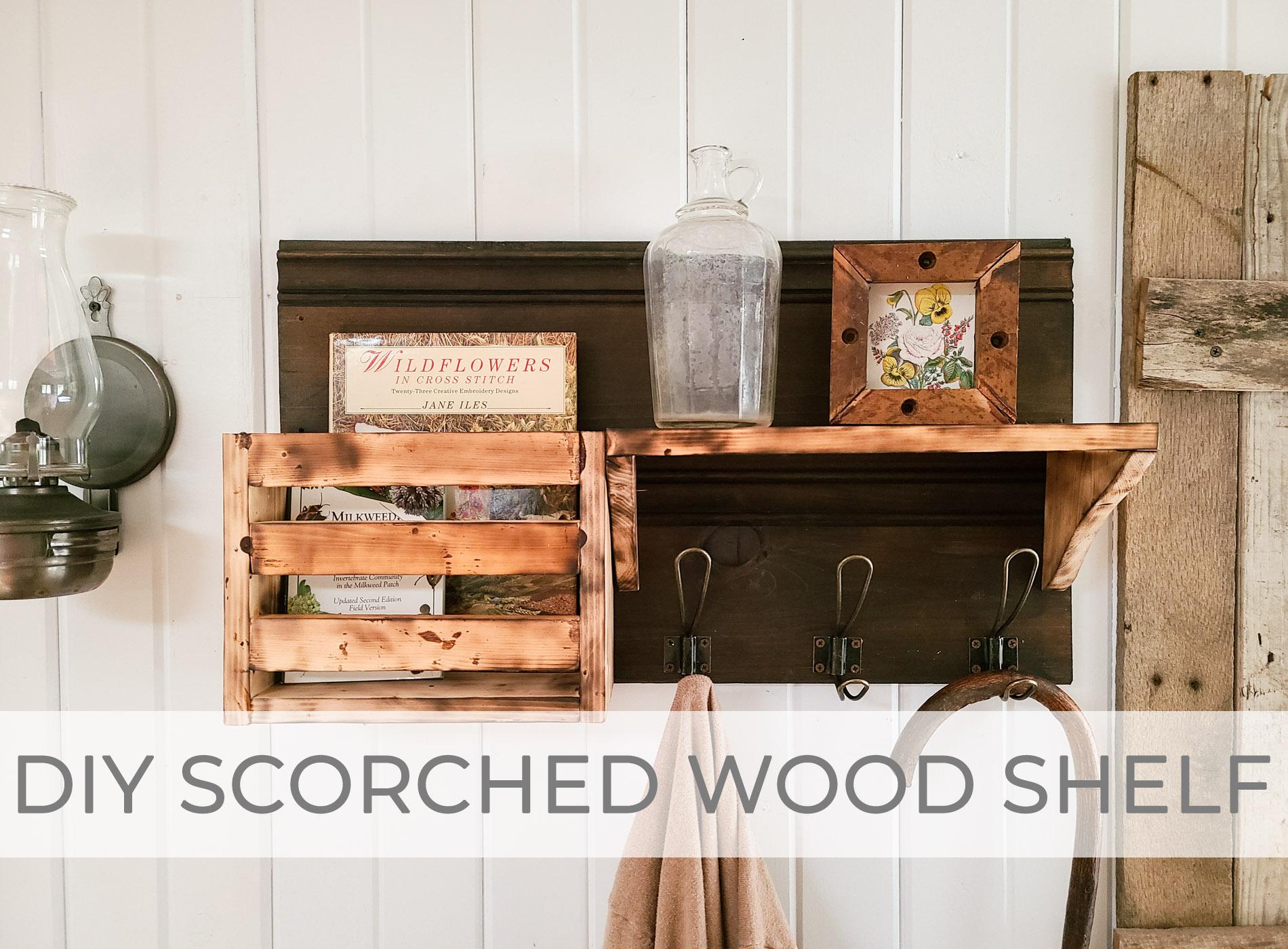 DIY Scorched Wood Shelf Tutorial by Larissa of Prodigal Pieces | prodigalpieces.com