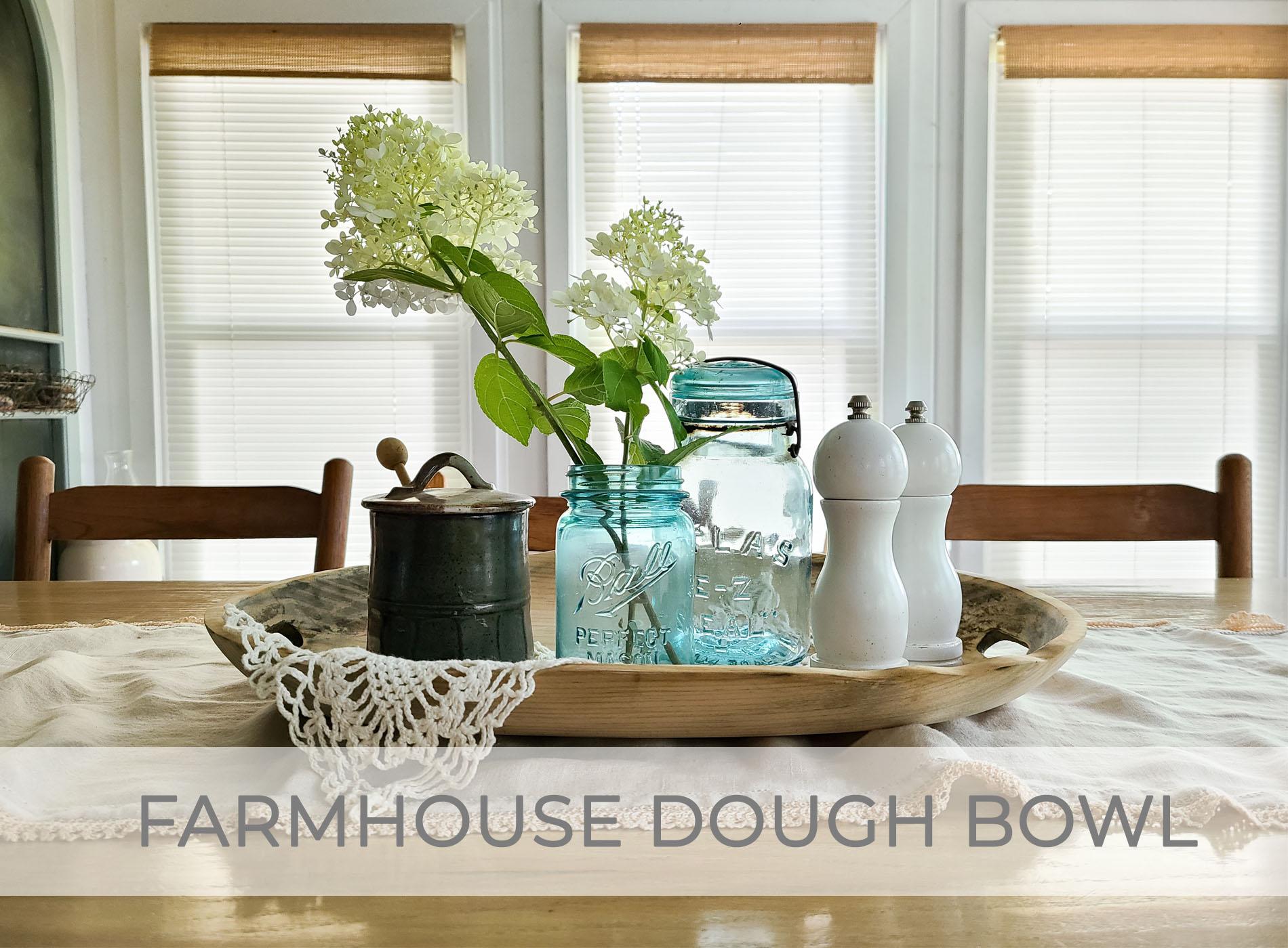Farmhouse Dough Bowl from Tourist Token by Larissa of Prodigal Pieces | prodigalpieces.com #prodigalpieces