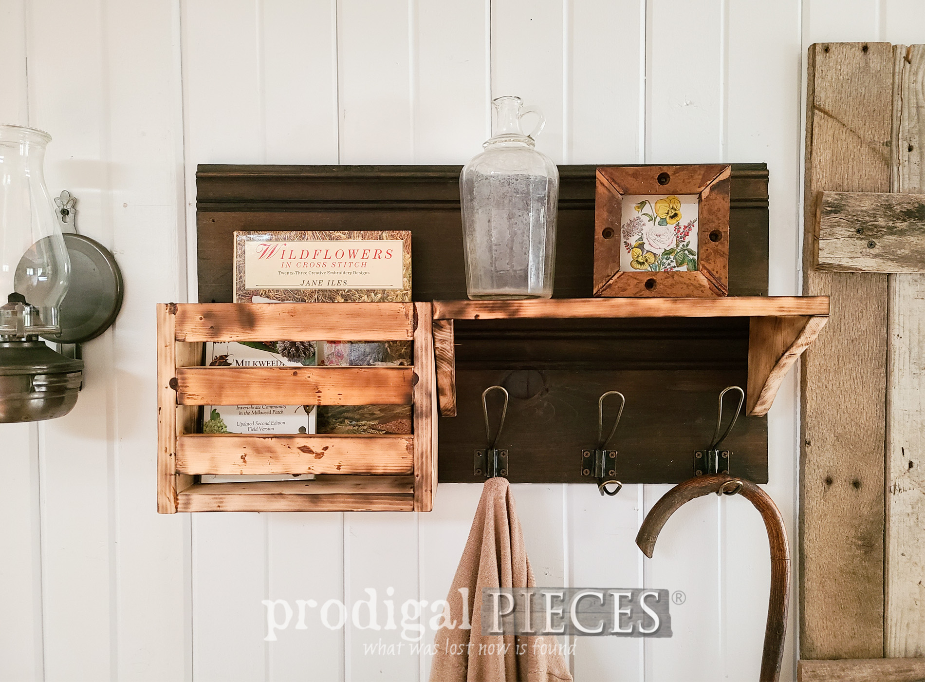Featured DIY Scorched Wood Entry Shelf Tutorial by Larissa of Prodigal Pieces | prodigalpieces.com #prodigalpieces #diy #farmhouse #entry #toolsoverjewels #woodworking