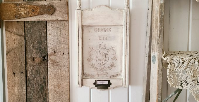 Upcycled Frame with DIY Embossing