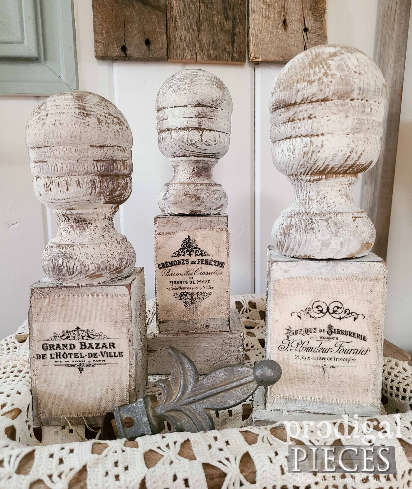French Chic Farmhouse Finials for Home Decor by Larissa of Prodigal Pieces | prodigalpieces.com #prodigalpieces #farmhouse #french #diy