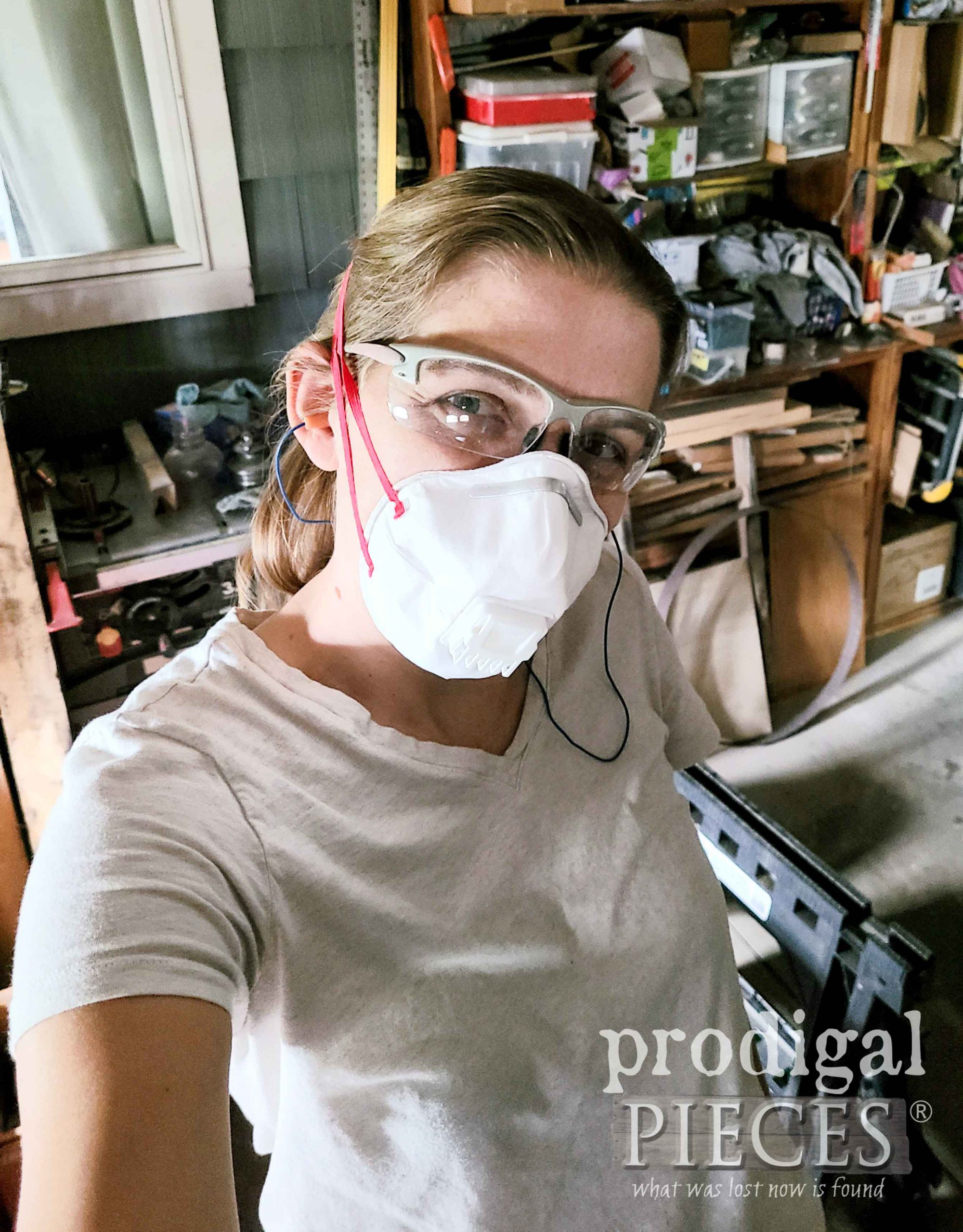 Larissa Working in Woodshop | prodigalpieces.com