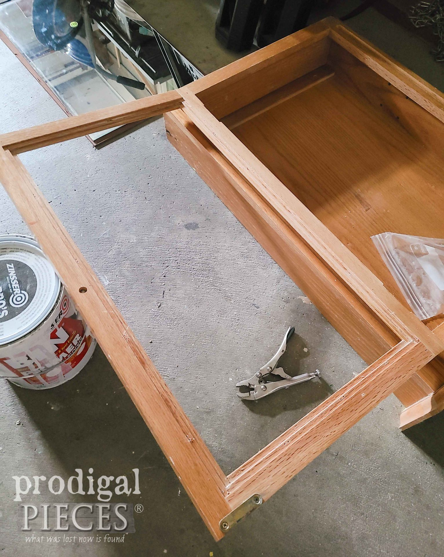 Removed Mirror from Mirrored Medicine Cabinet | prodigalpieces.com
