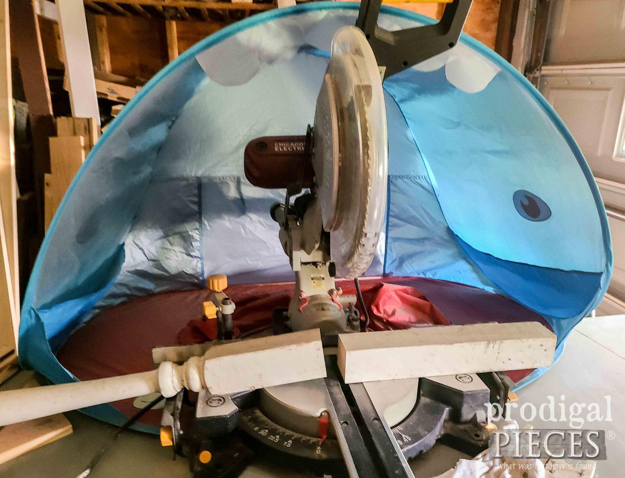 Miter Saw Hood DIY by Larissa of Prodigal Pieces | prodigalpieces.com