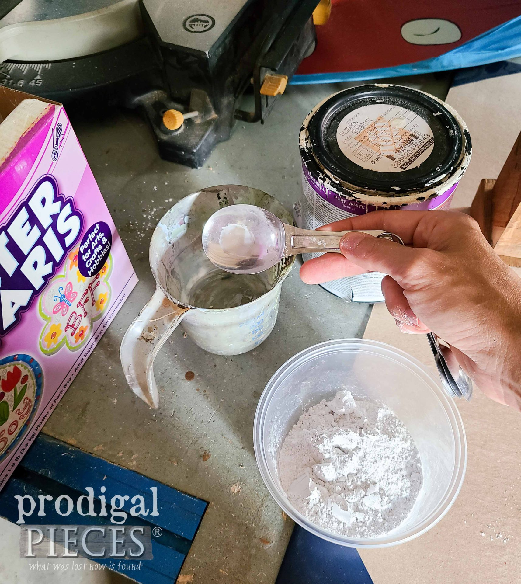 Mixing Sawdust Paint by Prodigal Pieces | prodigalpieces.com