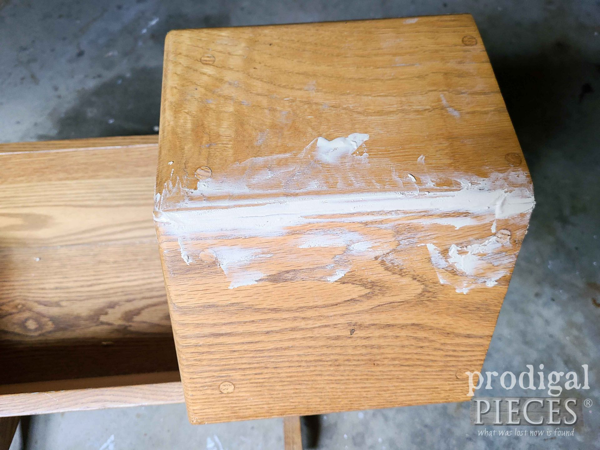 Puttied Split Wood filled with Wood Filler | prodigalpieces.com