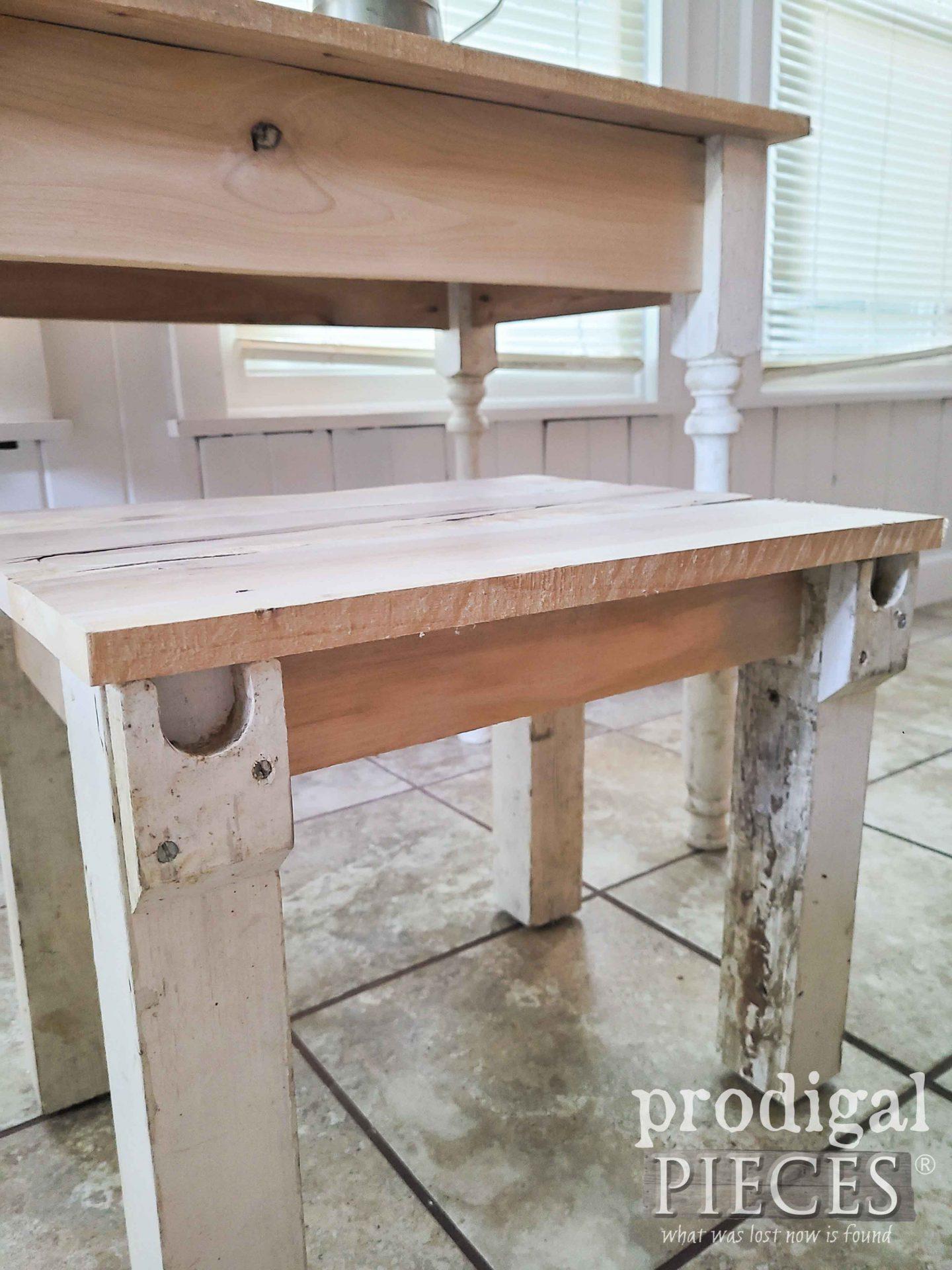 Reclaimed Desk Set Seat by Larissa of Prodigal Pieces | prodigalpieces.com #prodigalpieces #reclaimed #home #homedecor