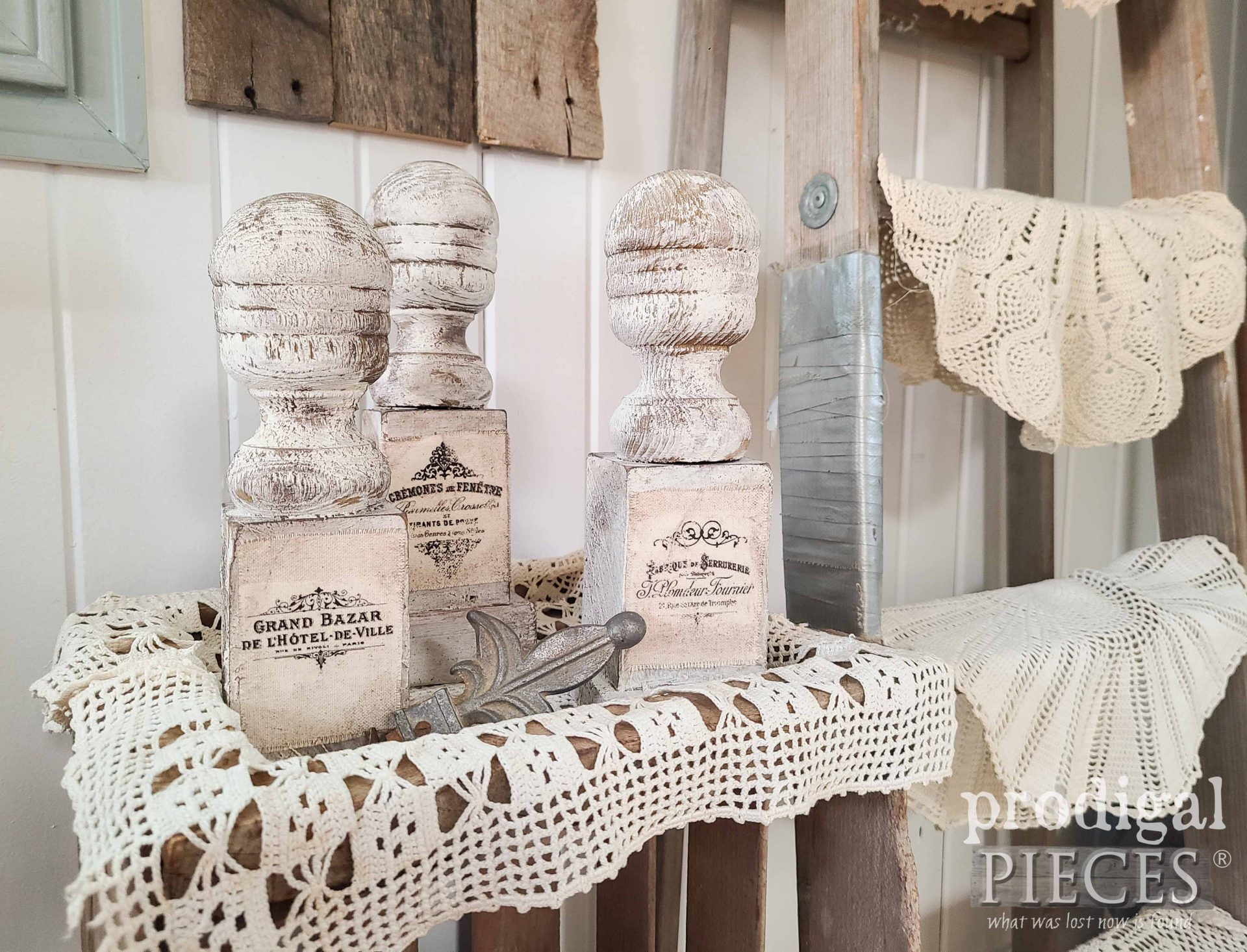 Reclaimed Farmhouse Finials for Upcycled Decor by Larissa of Prodigal Pieces | prodigalpieces.com #prodigalpieces #farmhouse #diy #home