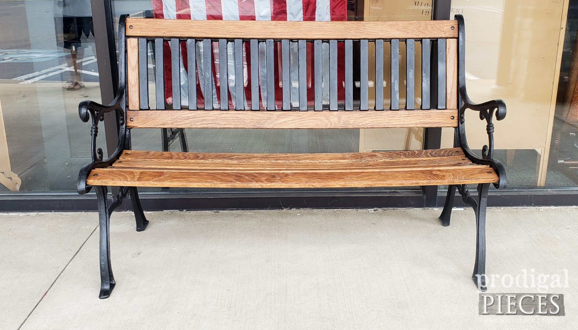 Refinished Wrought Iron Bench by Larissa of Prodigal Pieces | prodigalpieces.com #prodigalpieces