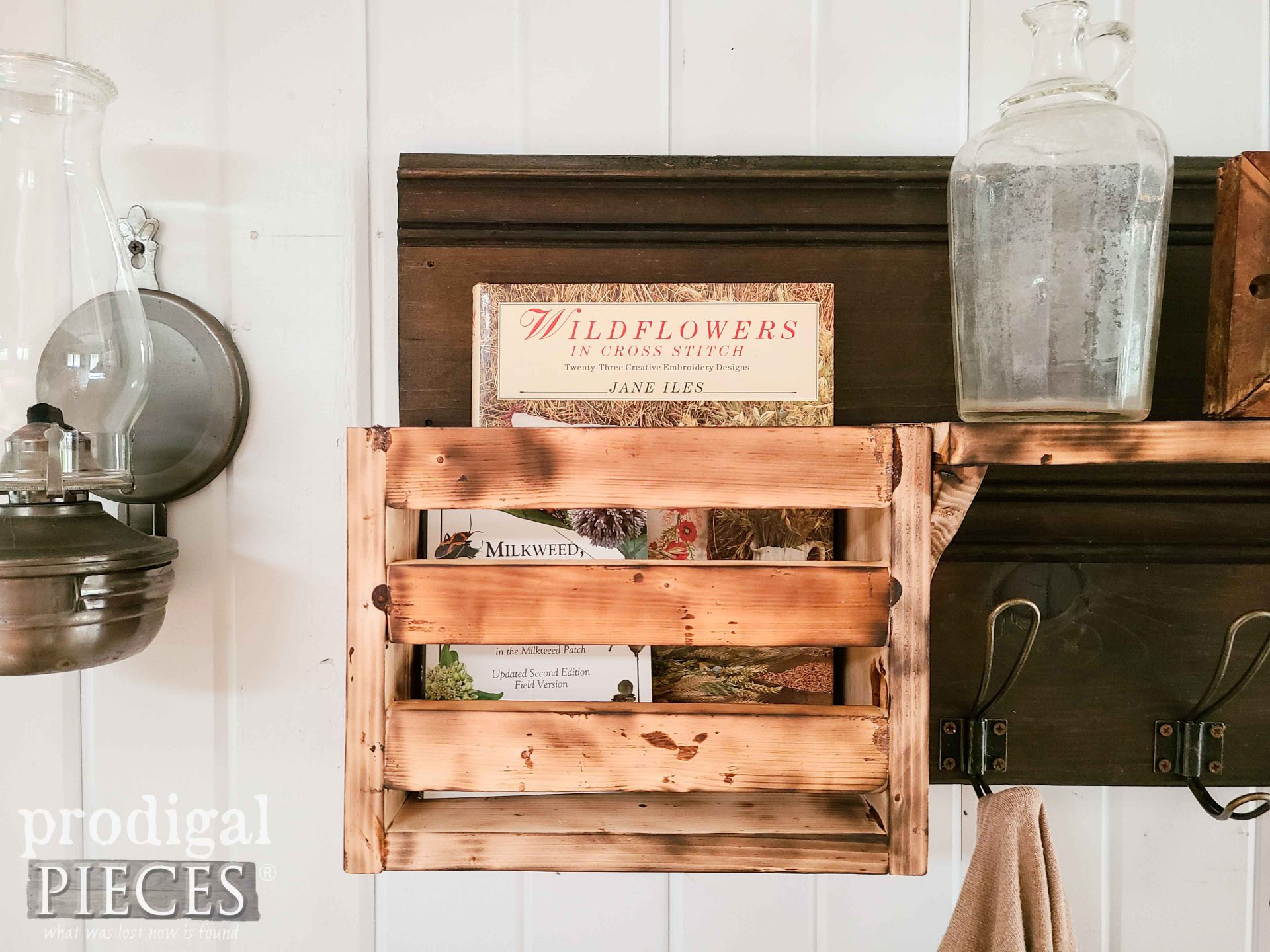 Rustic Crate Shelf DIY Scorched Wood Tutorial by Larissa of Prodigal Pieces | prodigalpieces.com #prodigalpieces #diy #farmhouse #farm #rustic #home